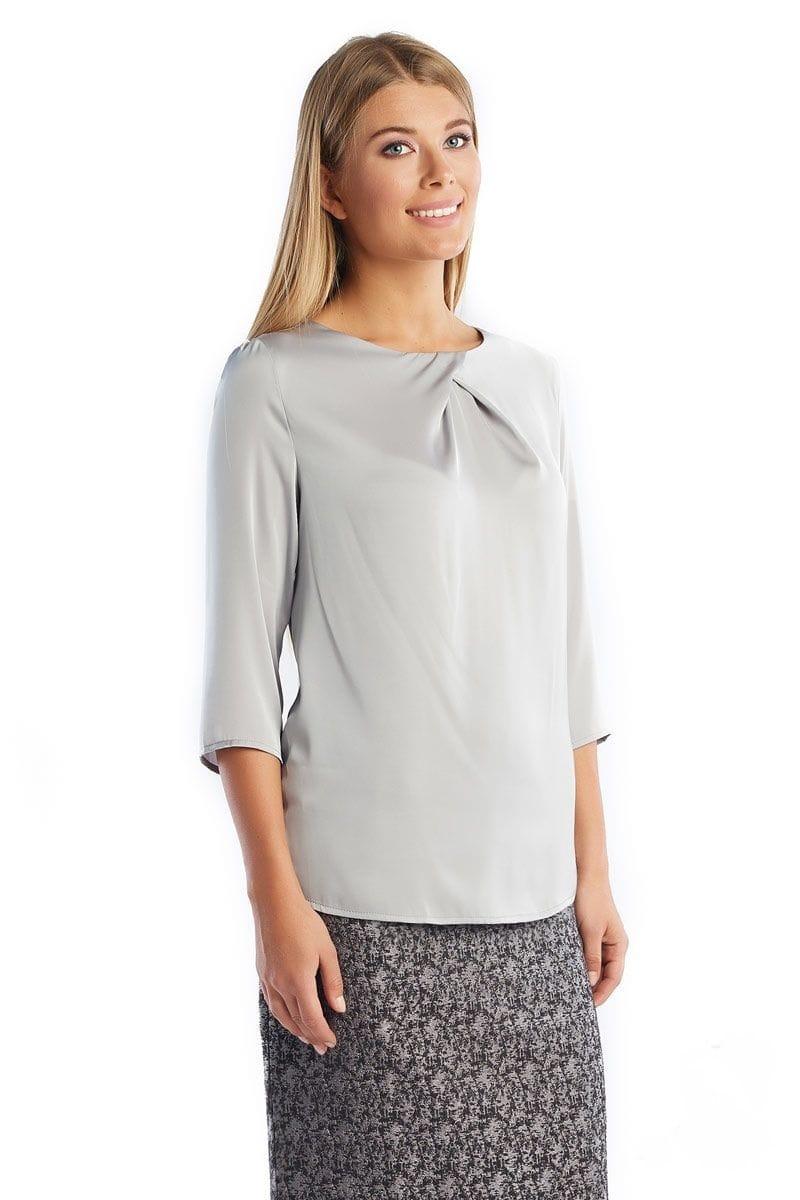 Серая блузка LalaStyle 1274-236