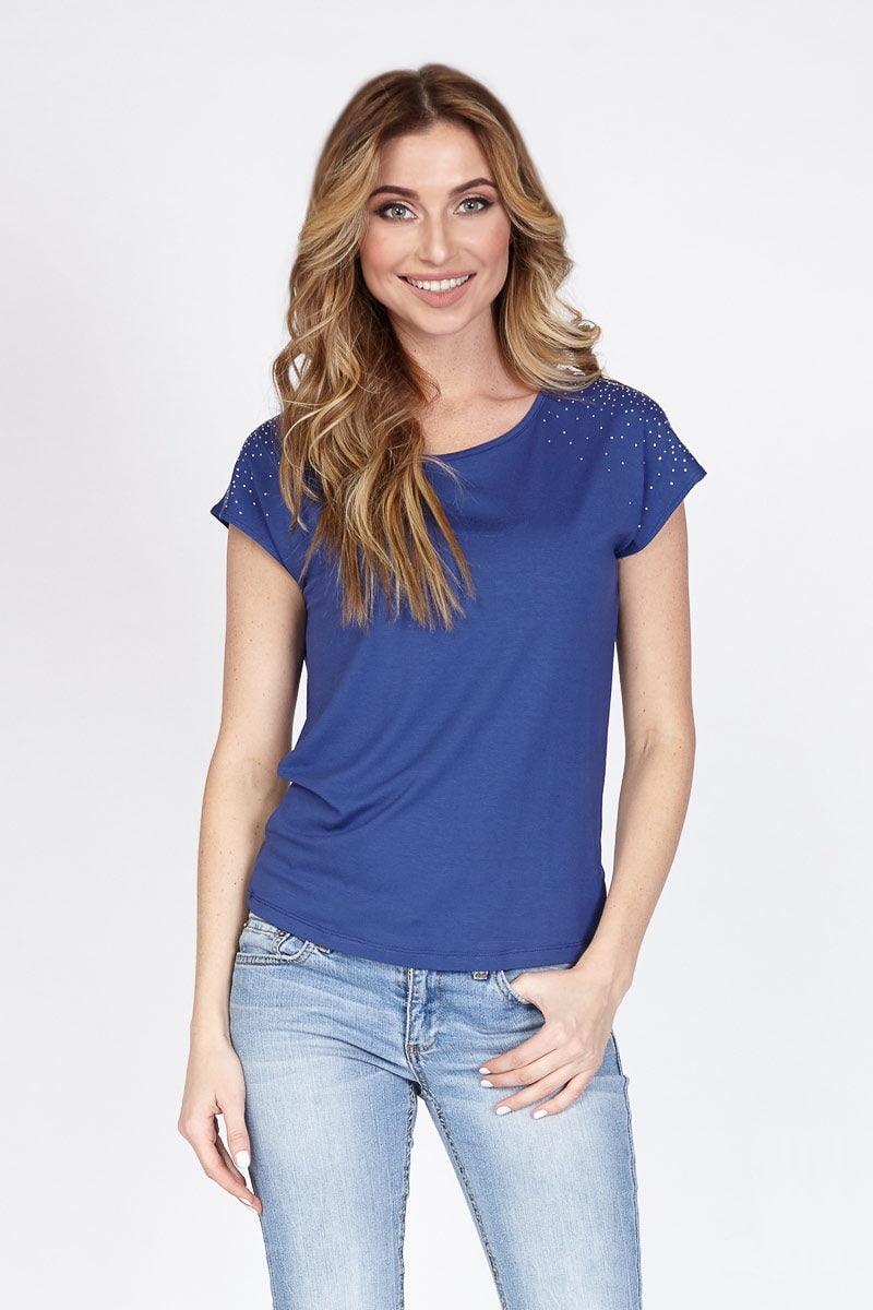 Сине-фиолетовая блузка LalaStyle 1173