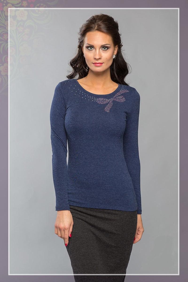 Синяя женская блузка LalaStyle 862