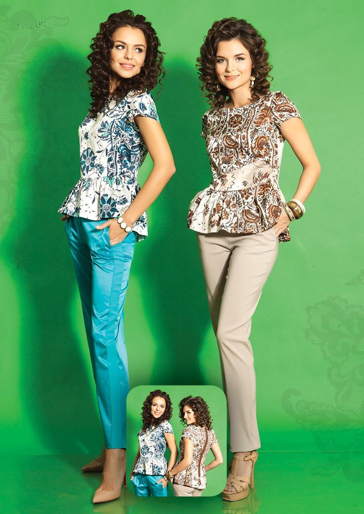 Шикарная шелковая блузка TopDesign РА5 35