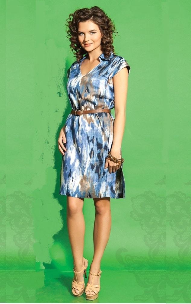 Хлопковое платье на лето TopDesign А5 041
