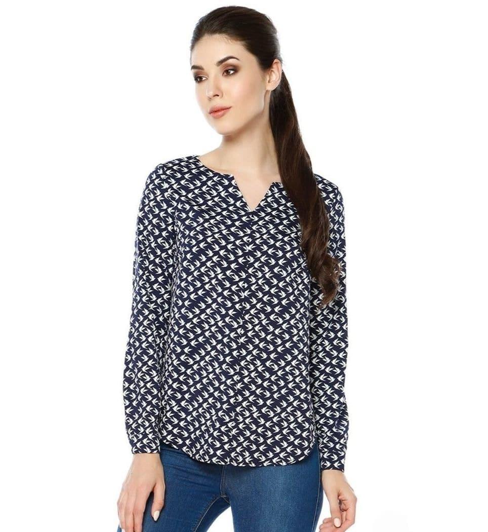 Красивая хлопковая блузка под джинсы LalaStyle 1339-196