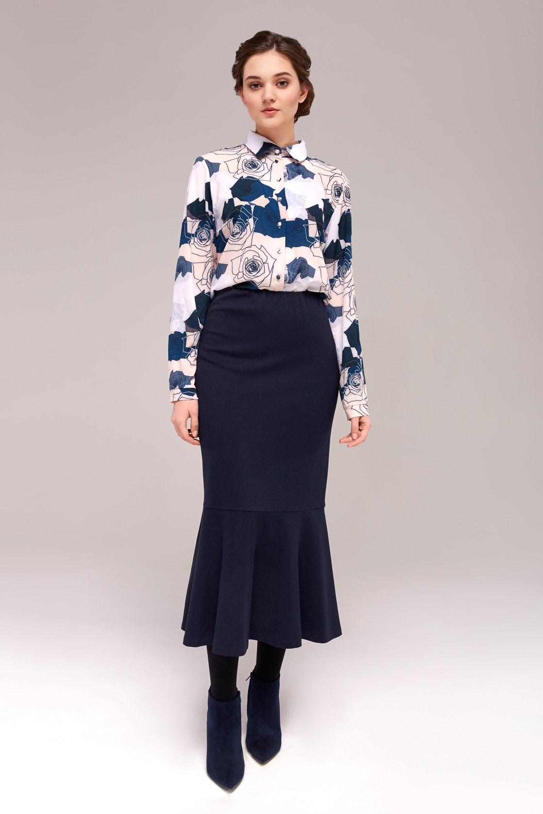 Стильная блузка из вискозы TopDesign B7 133