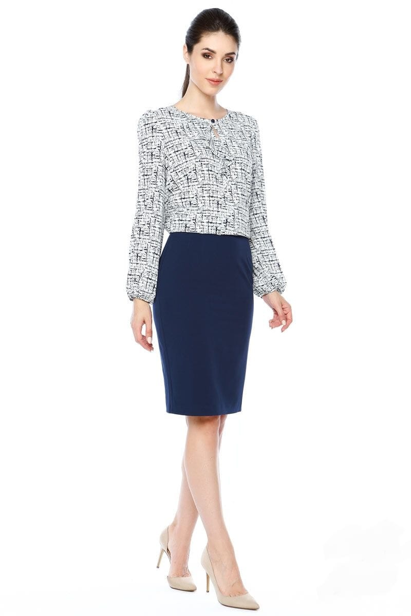 Стильная женская блузка LalaStyle 1311-243