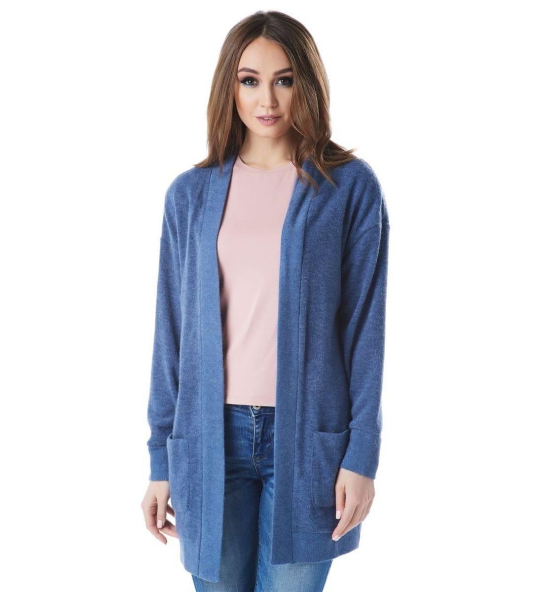 Шерстяной жакет голубого цвета   Lala Style1441