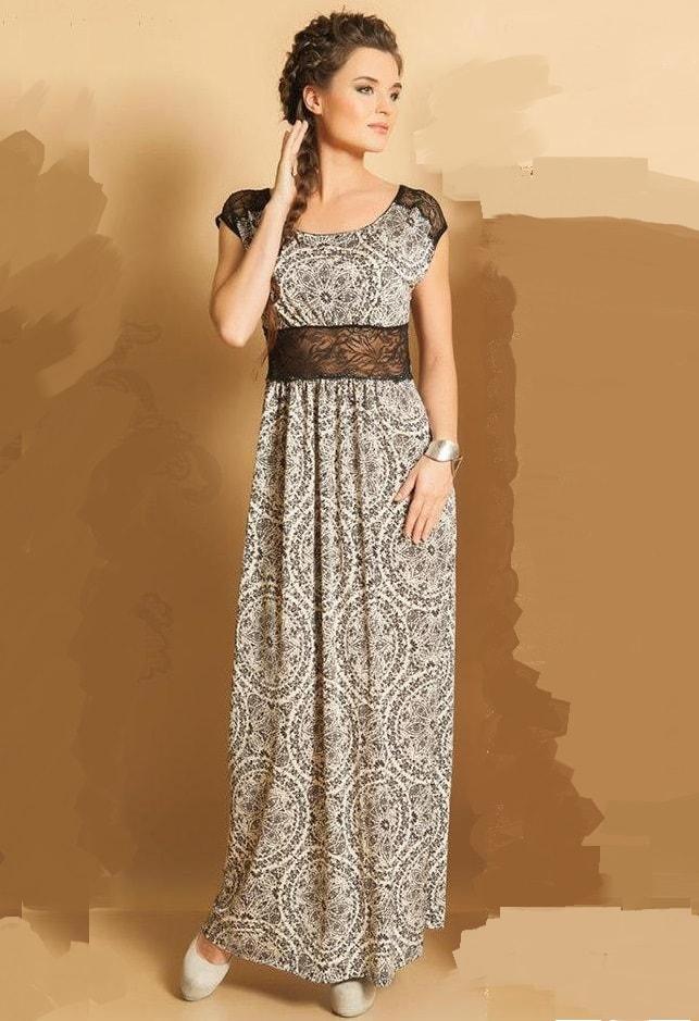Элегантное длинное платье на лето TopDesign РА5 68