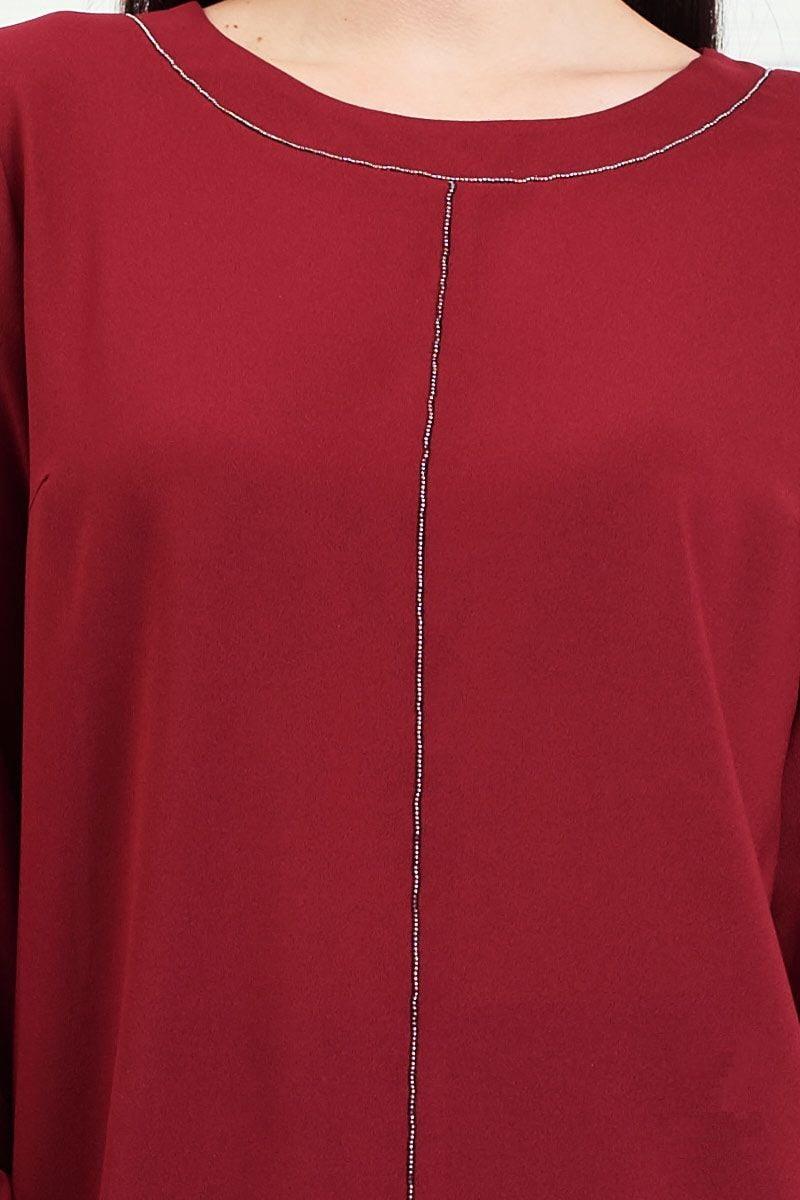 Модная блузка цвета бордо Lala Style 1313-172