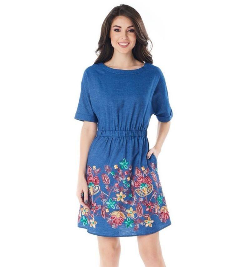 Платье с вышивкой LalaStyle 1381