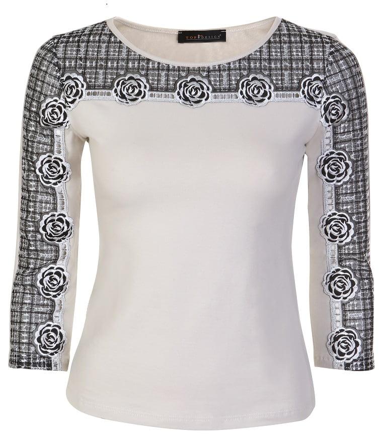 Красивая блузка Top Design А7 122