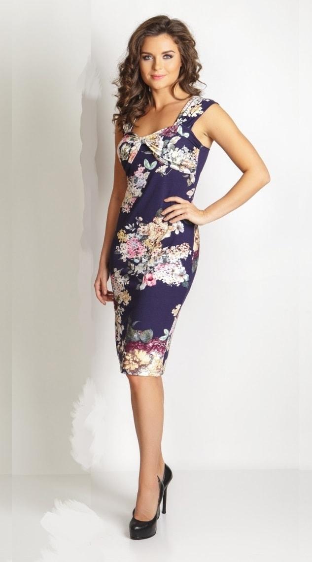 Синие летние платье TopDesign LA6 16