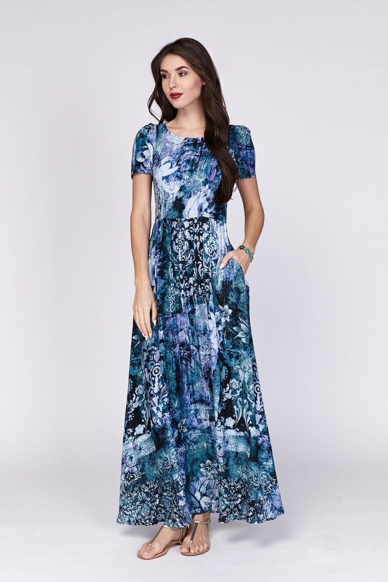 Длинное летние платье Lala Style 1221-101