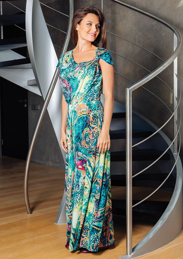 Летнее длинное платье Top Design РА7 08