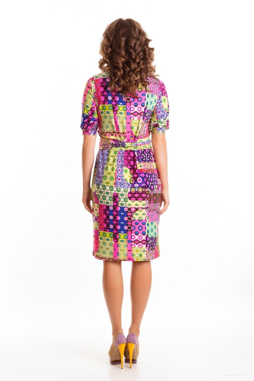 Красивое платье с поясом Top Design А6 048
