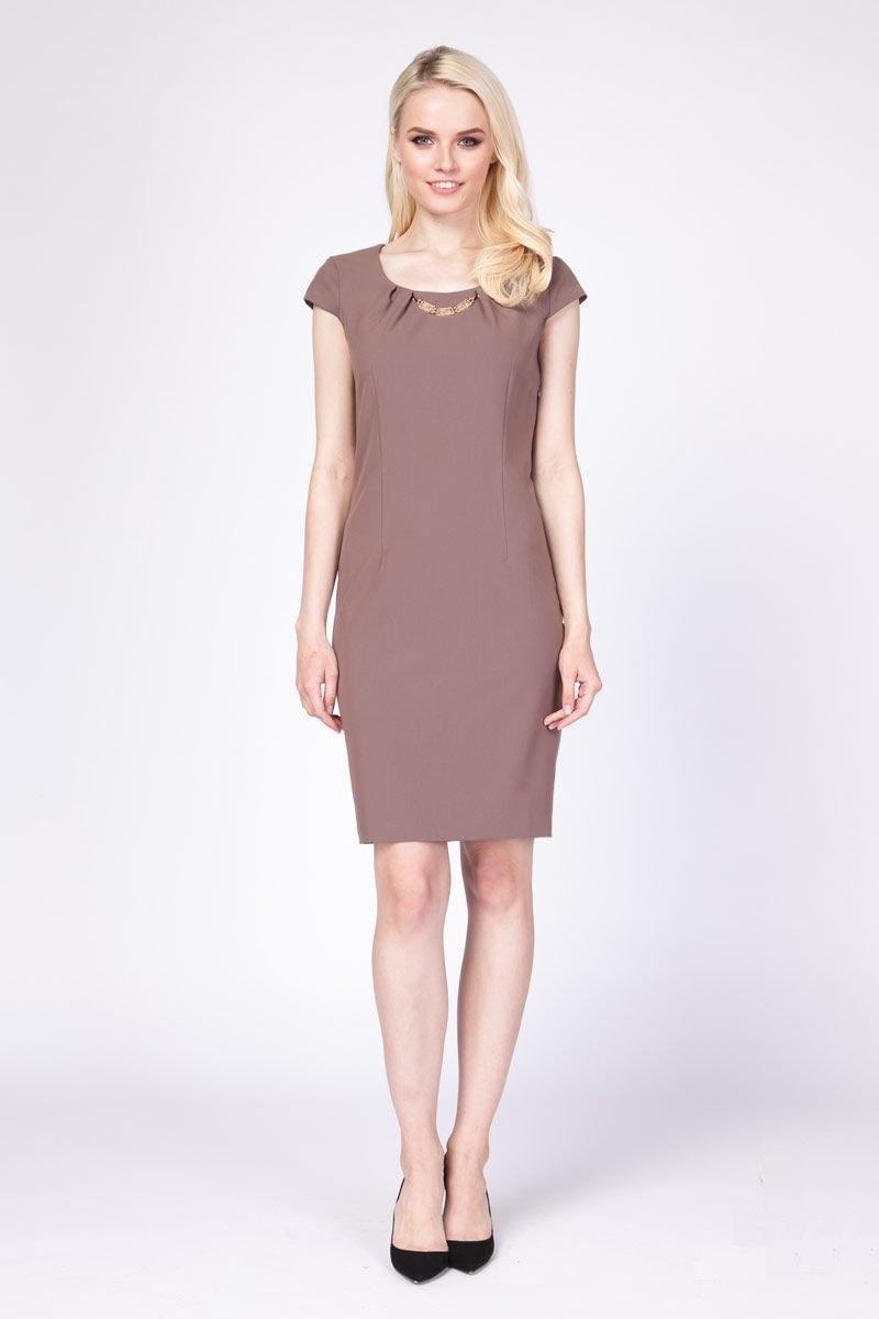 Летние платье в офис Lala Style 1080-02