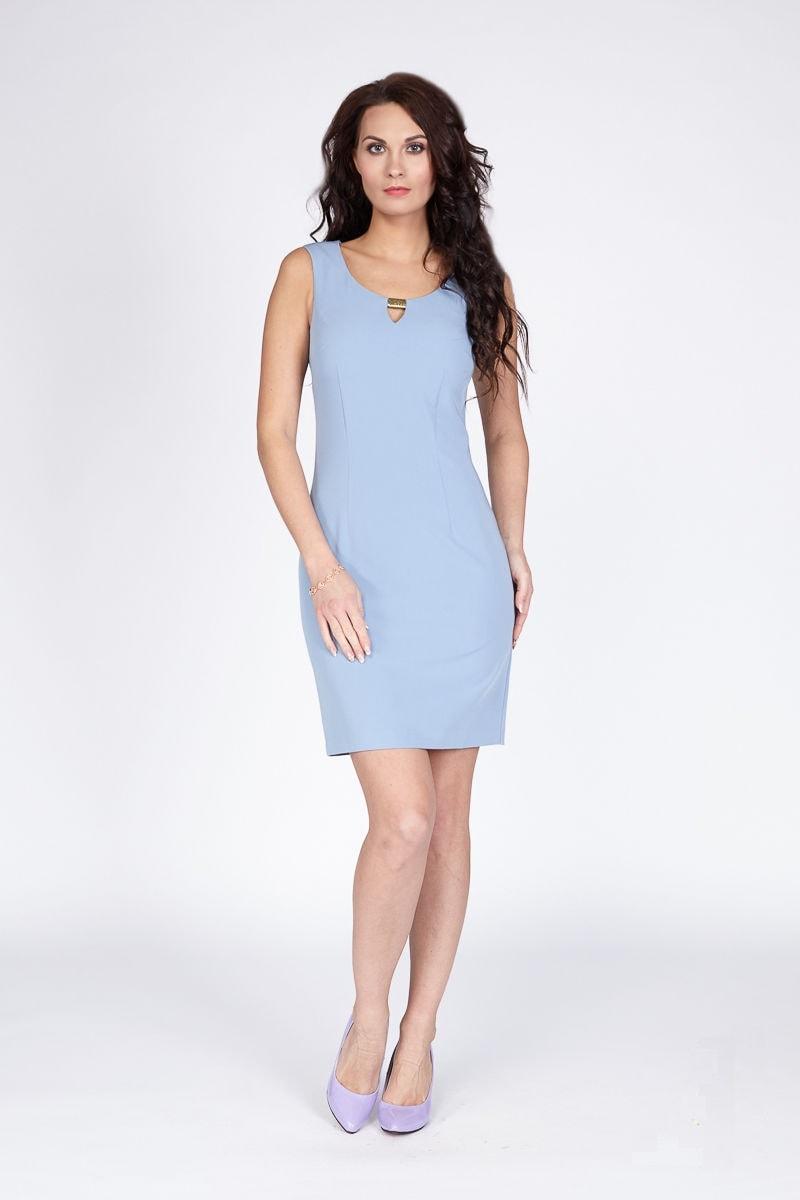 Однотонное летние платье Lala Style 1079-08