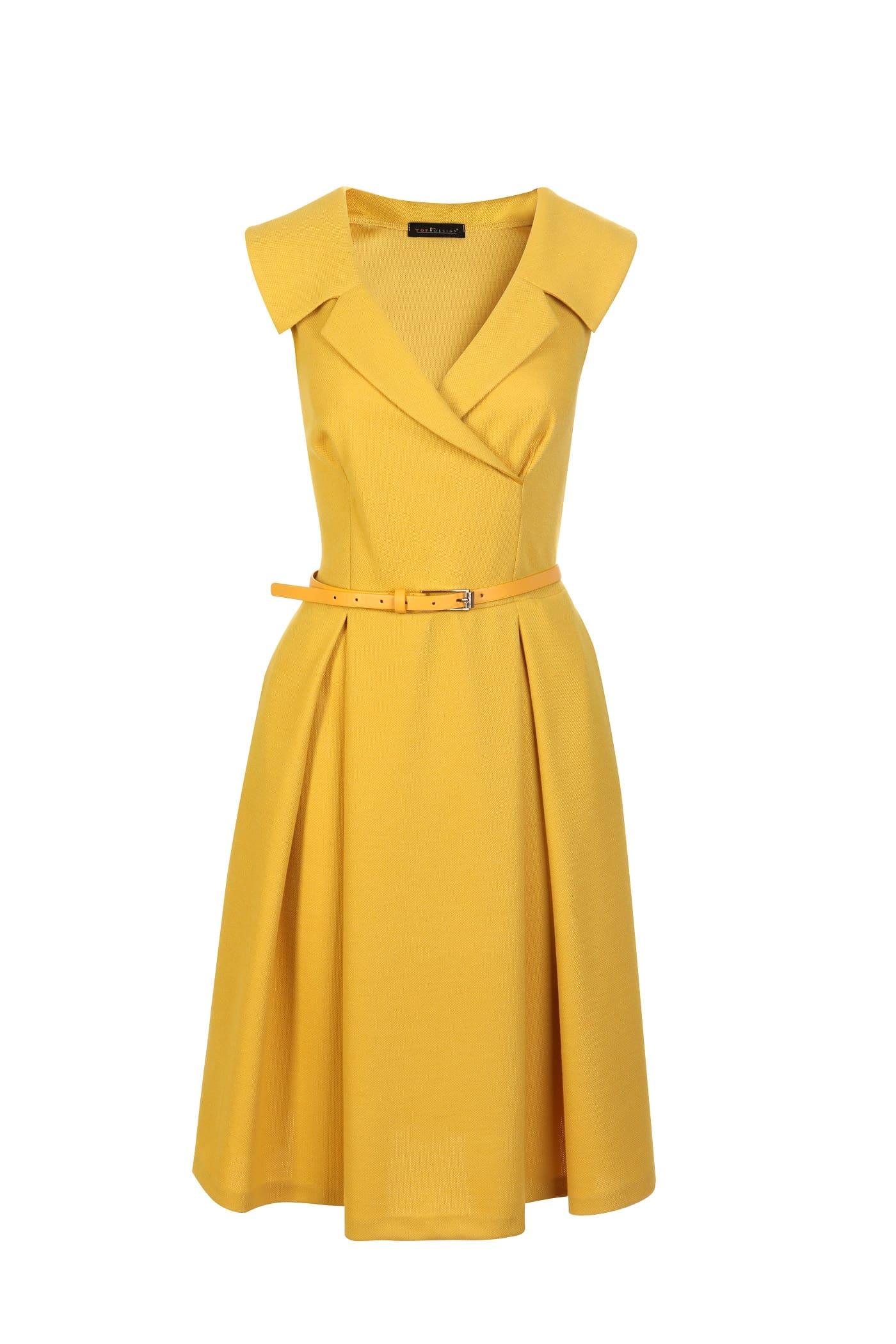 Модное платье без рукавов Top Design PA7 04