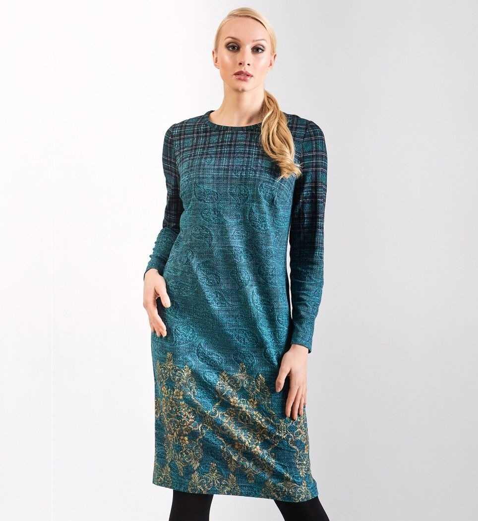 Модное платье с длинным рукавом TopDesign РВ8 29