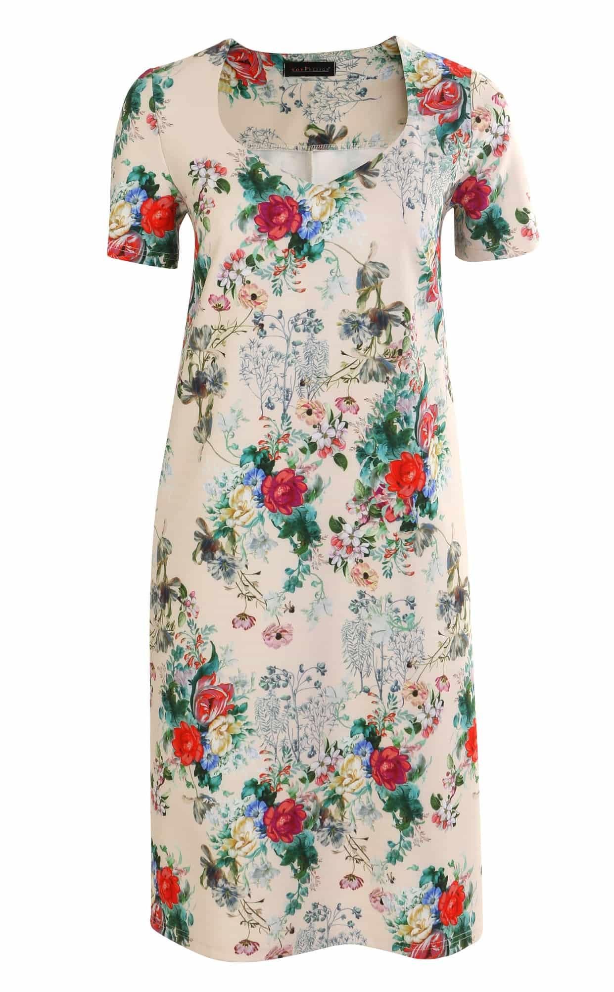Платье с коротким рукавом TopDesign А7 102