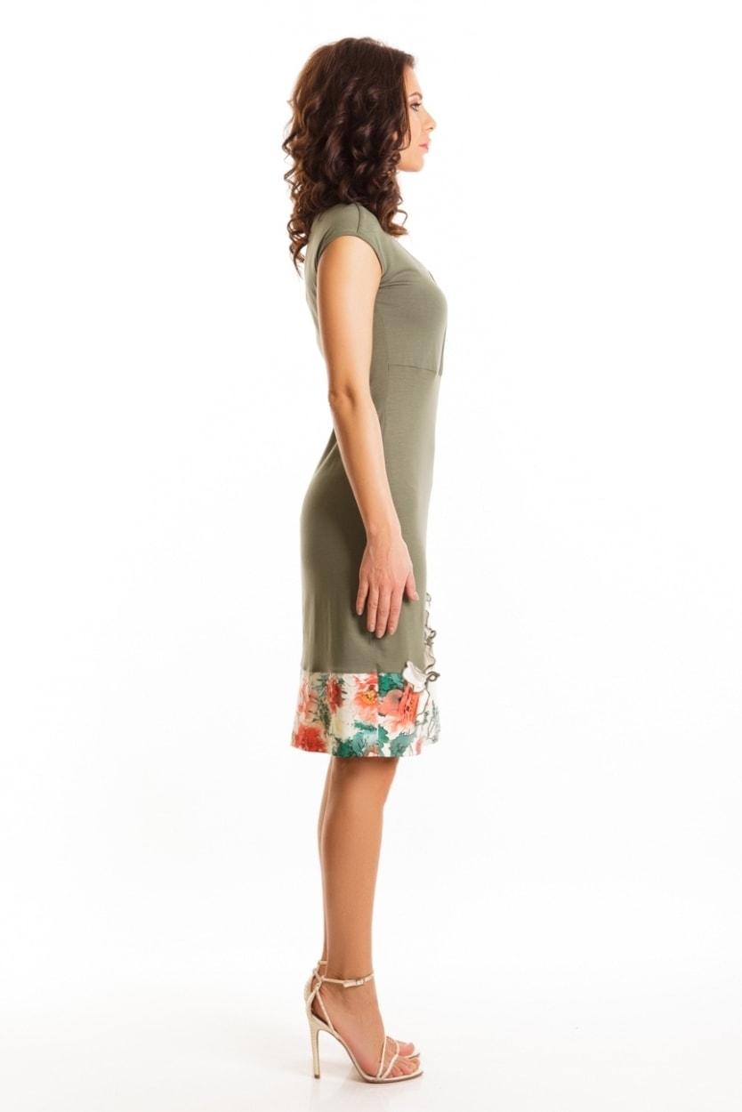 Платье с цветочной аппликацией TopDesign А6 022