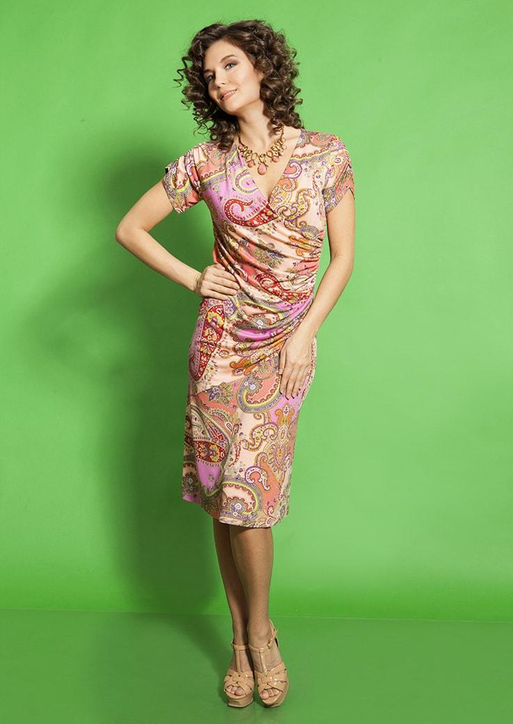 Трикотажное платье TopDesign А5 052