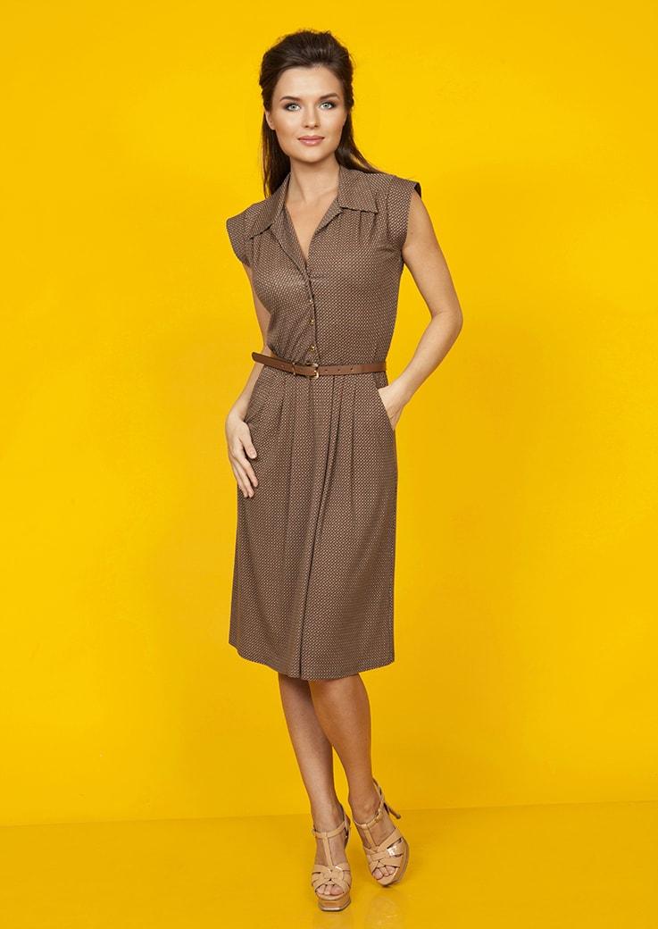 Модное платье из вискозы Top Design А5 012
