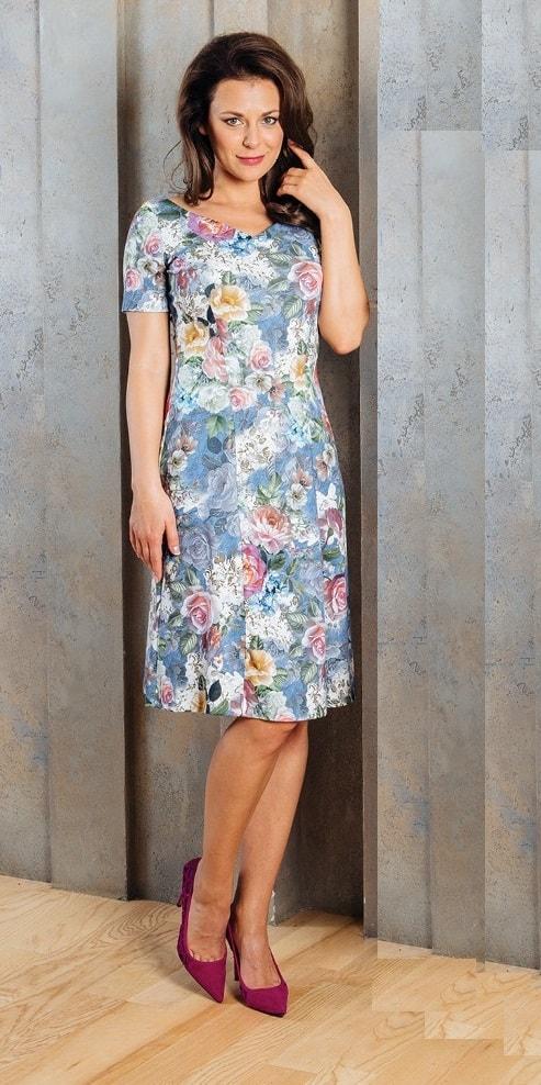 Женственное цветочное платье TopDesign А7 096