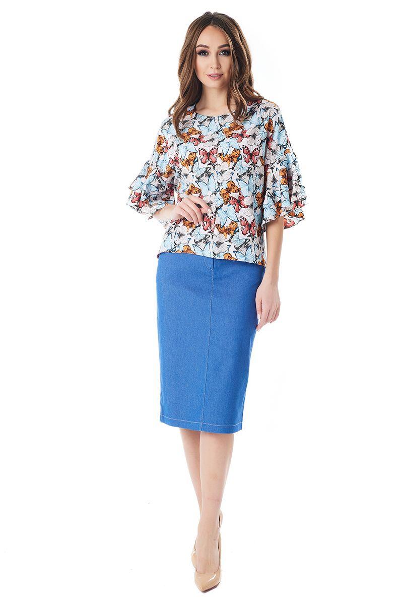 Эффектная женская блузка LalaStyle 1395-214
