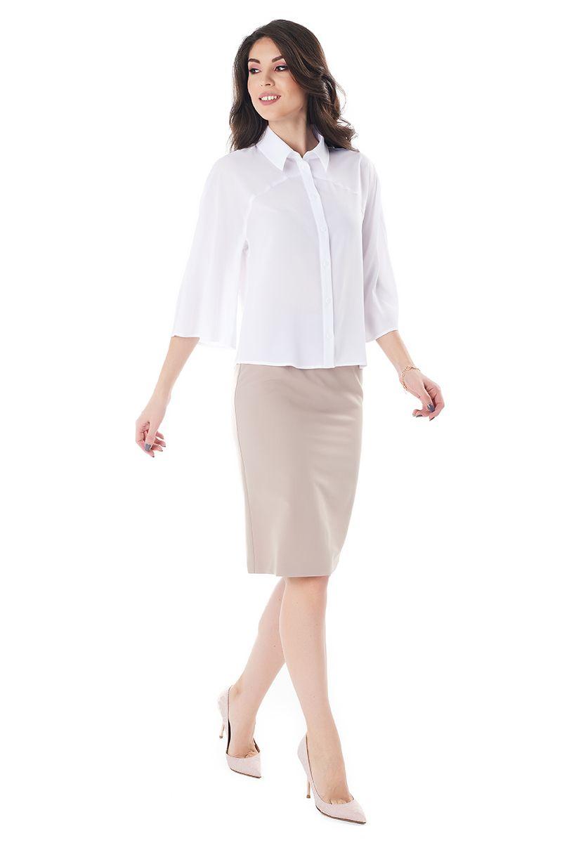 Купить Блузки Белые Офисные