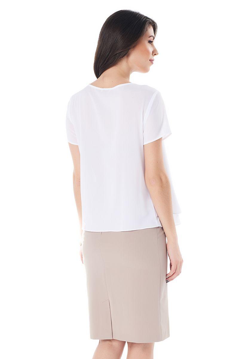 Белая блузка   LalaStyle 1409