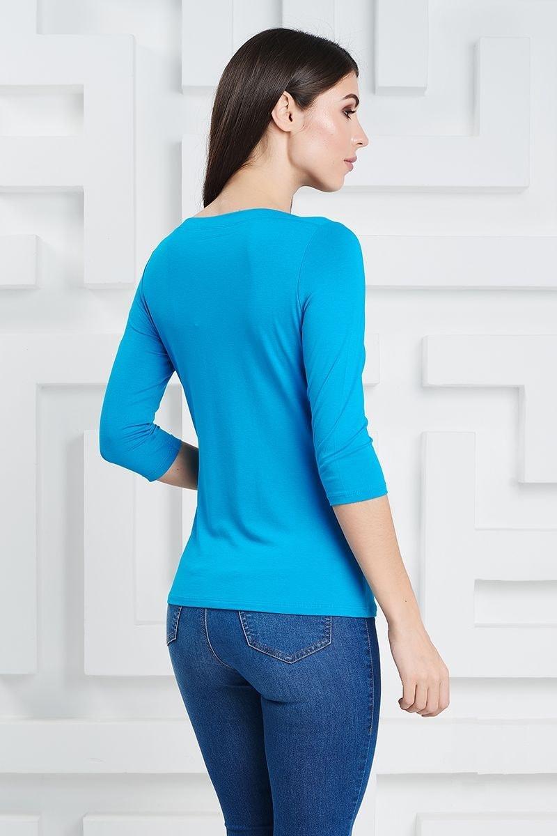 Блузка бирюзового цвета LalaStyle