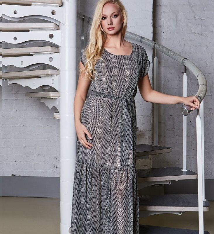 Длинное модное платье Top Design A8 039