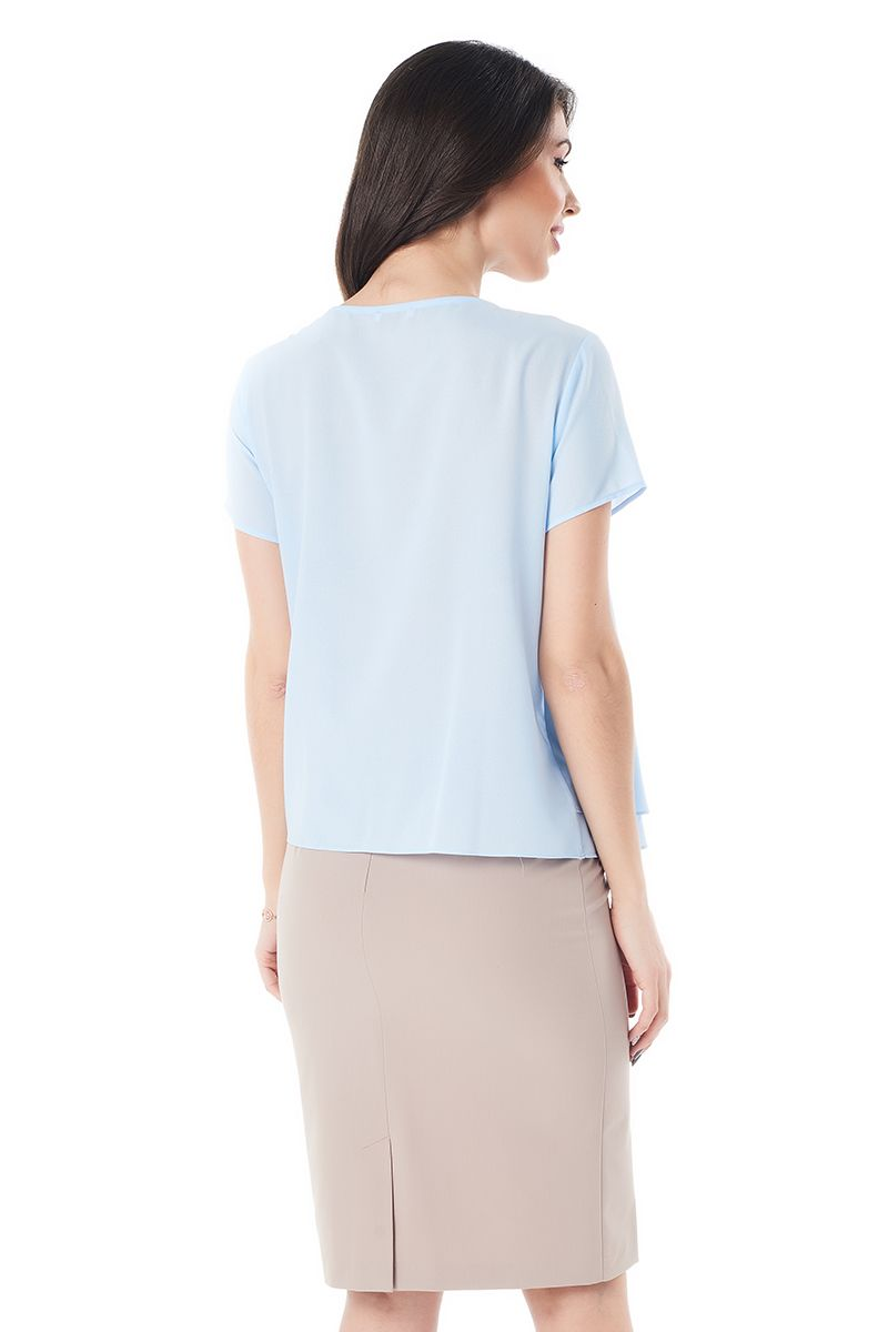 Голубая женская блузка LalaStyle 1409