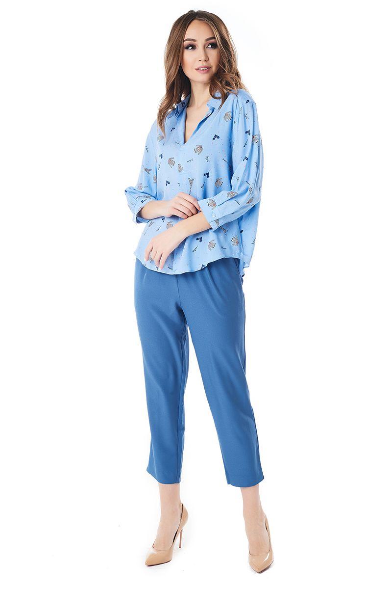 Модная летняя блузка LalaStyle 1401-259