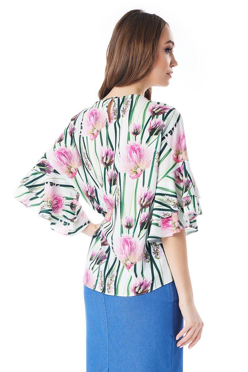 Модная женская блузка LalaStyle 1395-215
