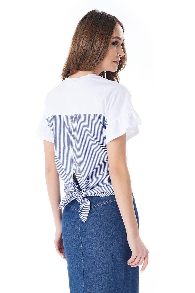 Оригинальная летняя блузка LalaStyle 1398