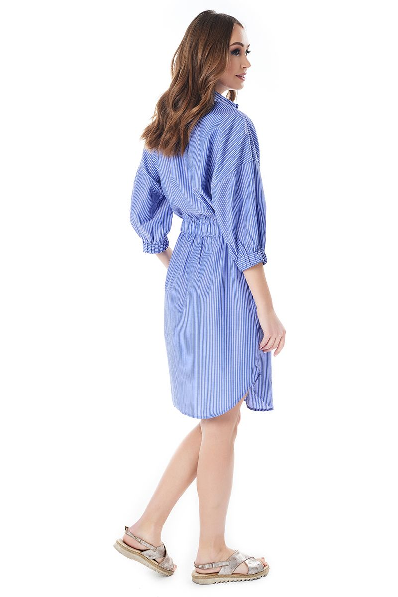Платье рубашка в полоску LalaStyle 1399-255