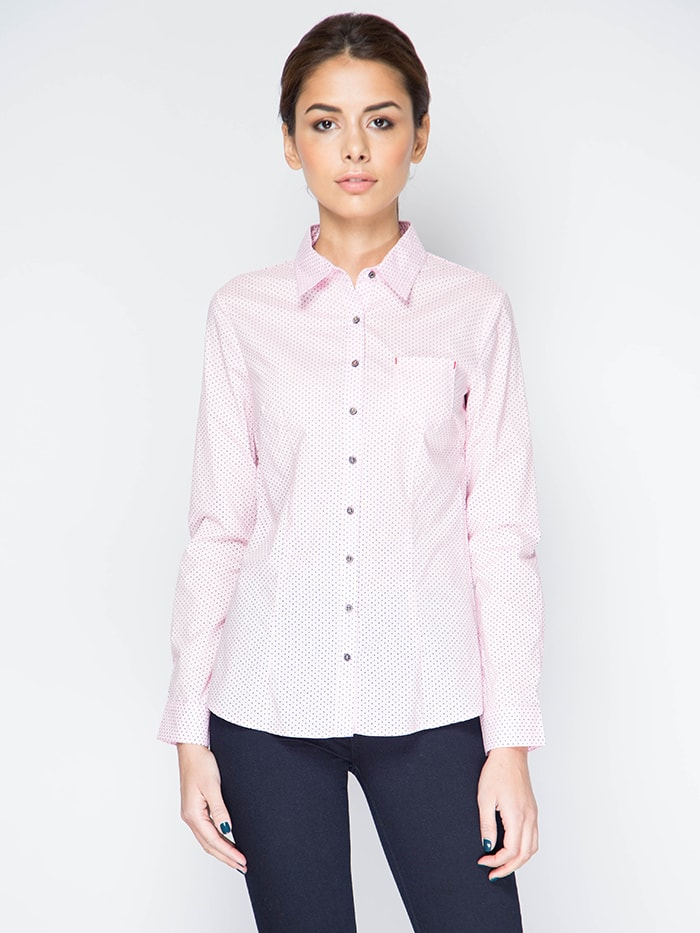 Розовая женская рубашка Marimay 15113