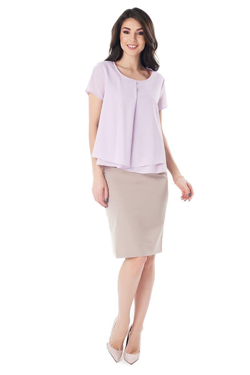 Сиреневая нежная блузка LalaStyle 1409