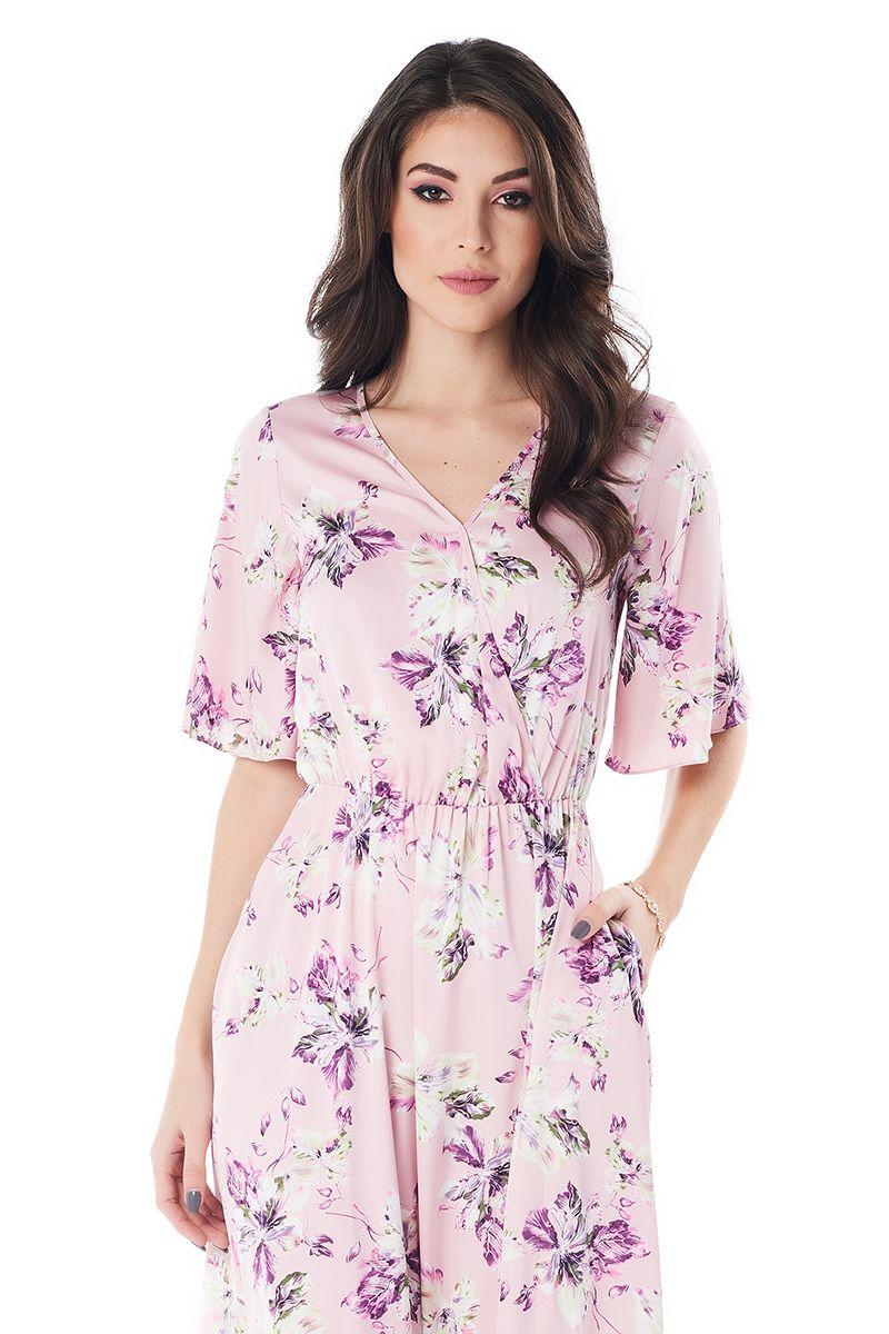 Летние шелковое платье LalaStyle 1379-190