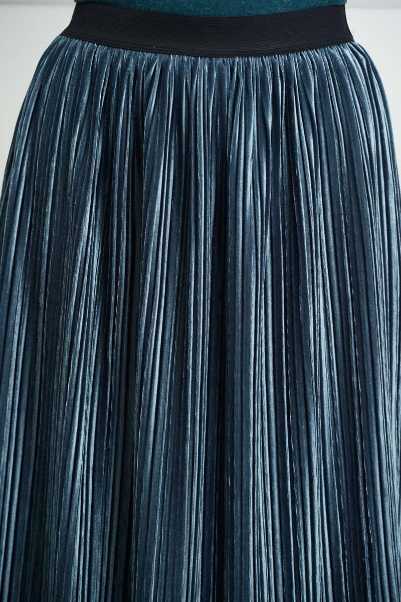 Бархатная юбка плиссе Lala Style 1363
