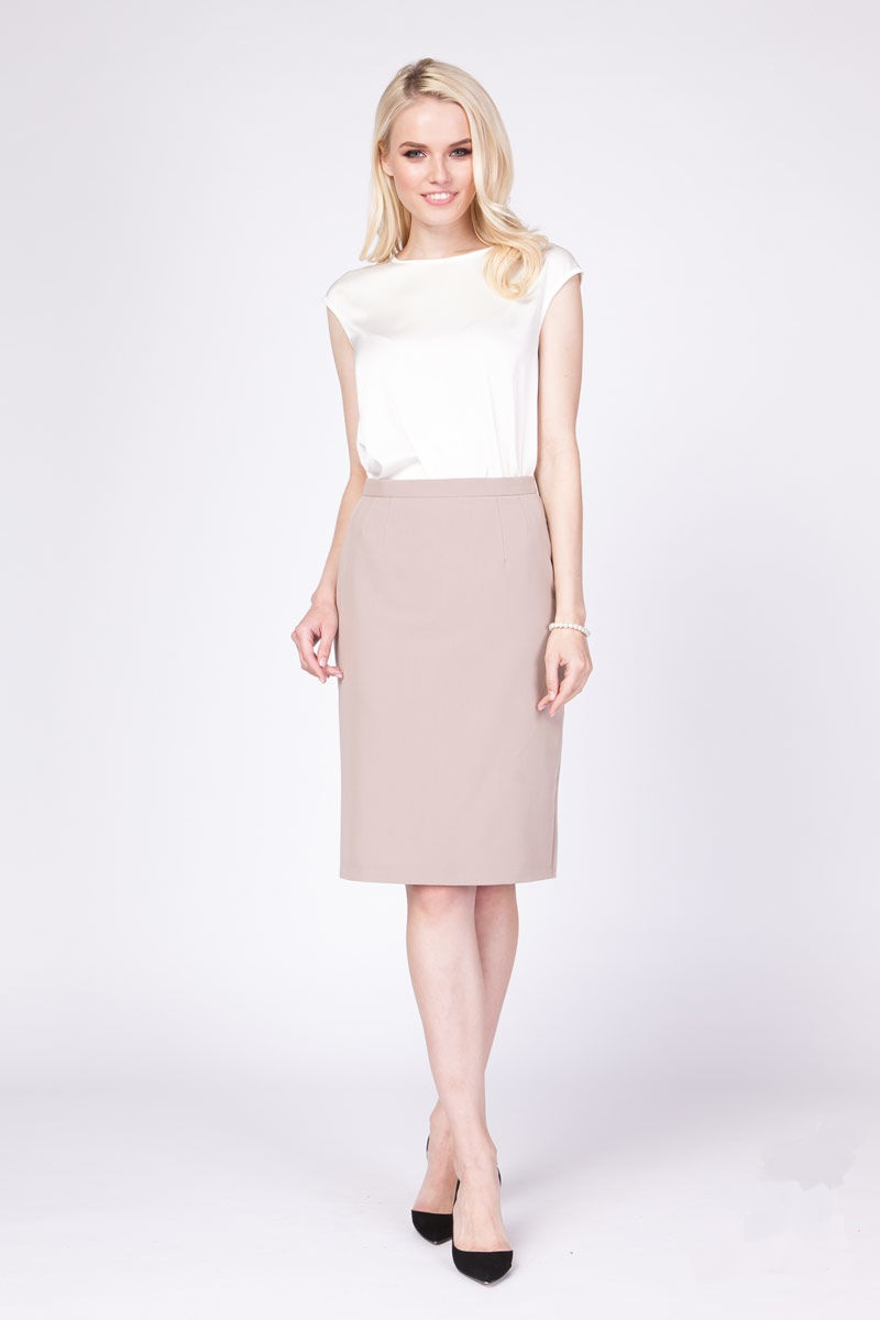 Бежевая женская юбка LalaStyle 1045-01