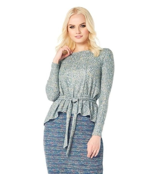 Эффектная блузка с длинным рукавом LalaStyle W02007-284