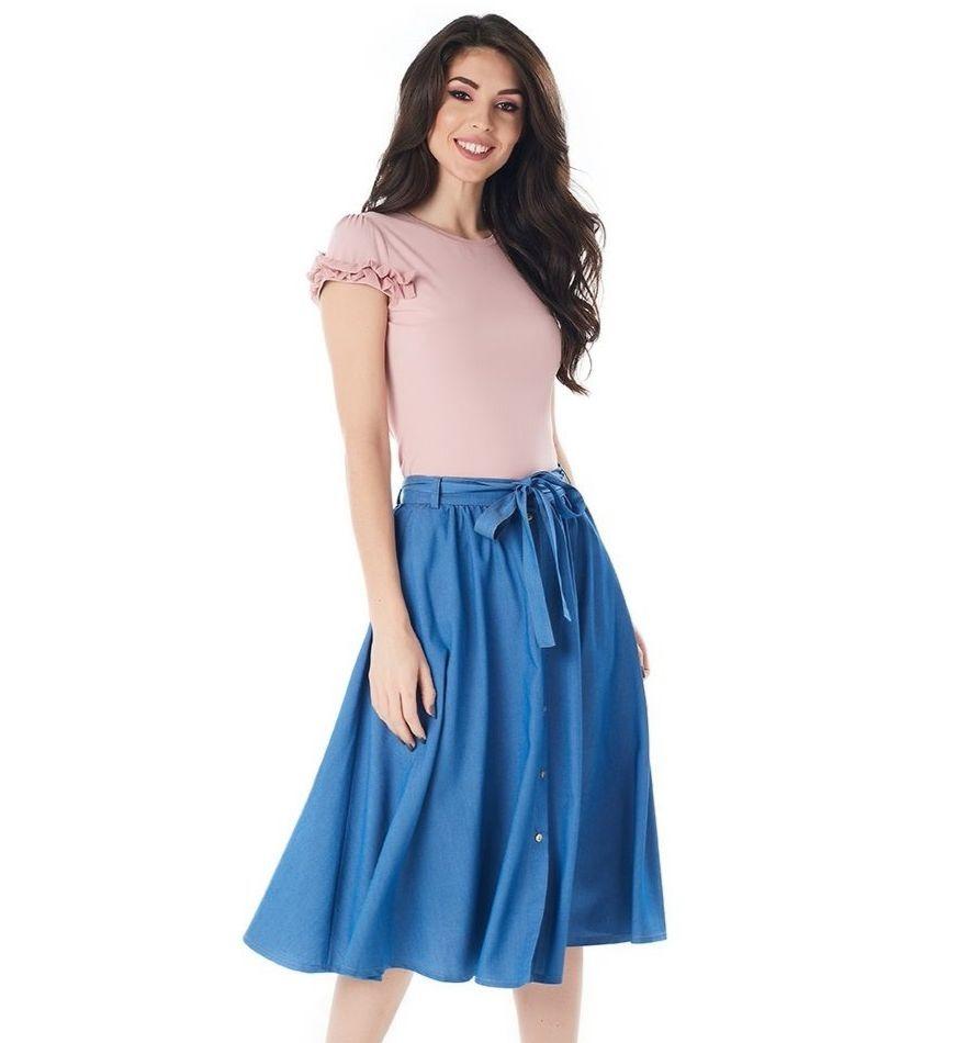 Голубая юбка LalaStyle 1391