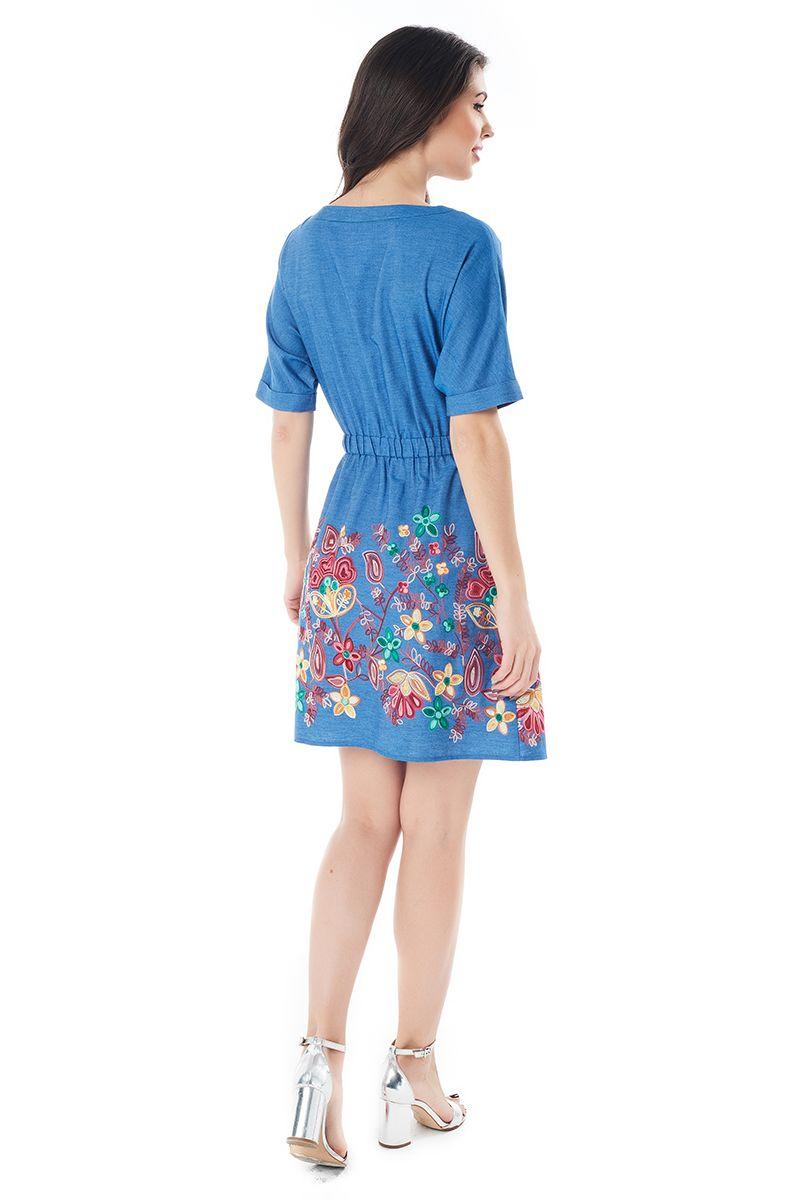 Голубое хлопковое платье LalaStyle 1381