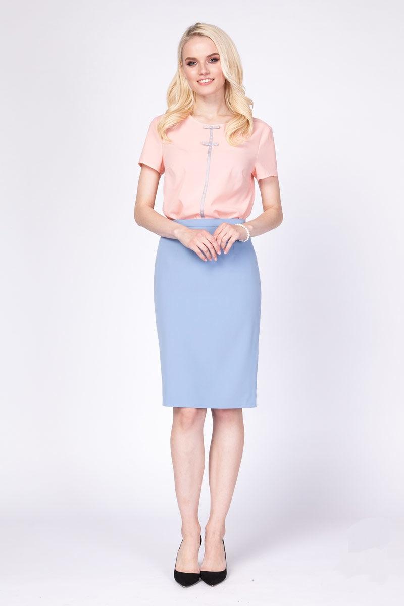 Голубая юбка Lala Style 1045-08