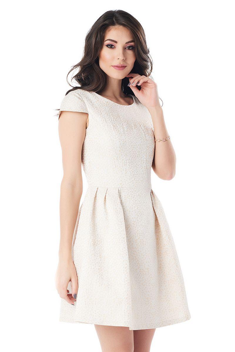 Нарядное золотистое платье LalaStyle 1385-151