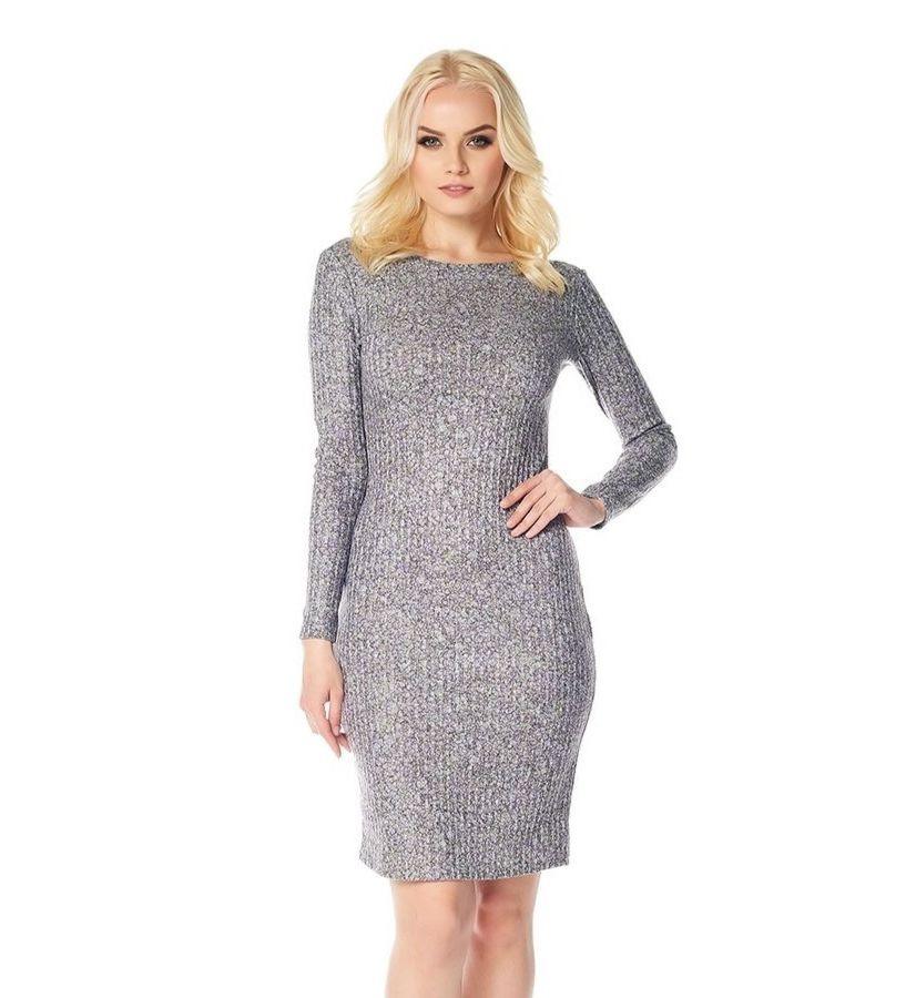 Платье с длинным рукавом LalaStyle W01006-285
