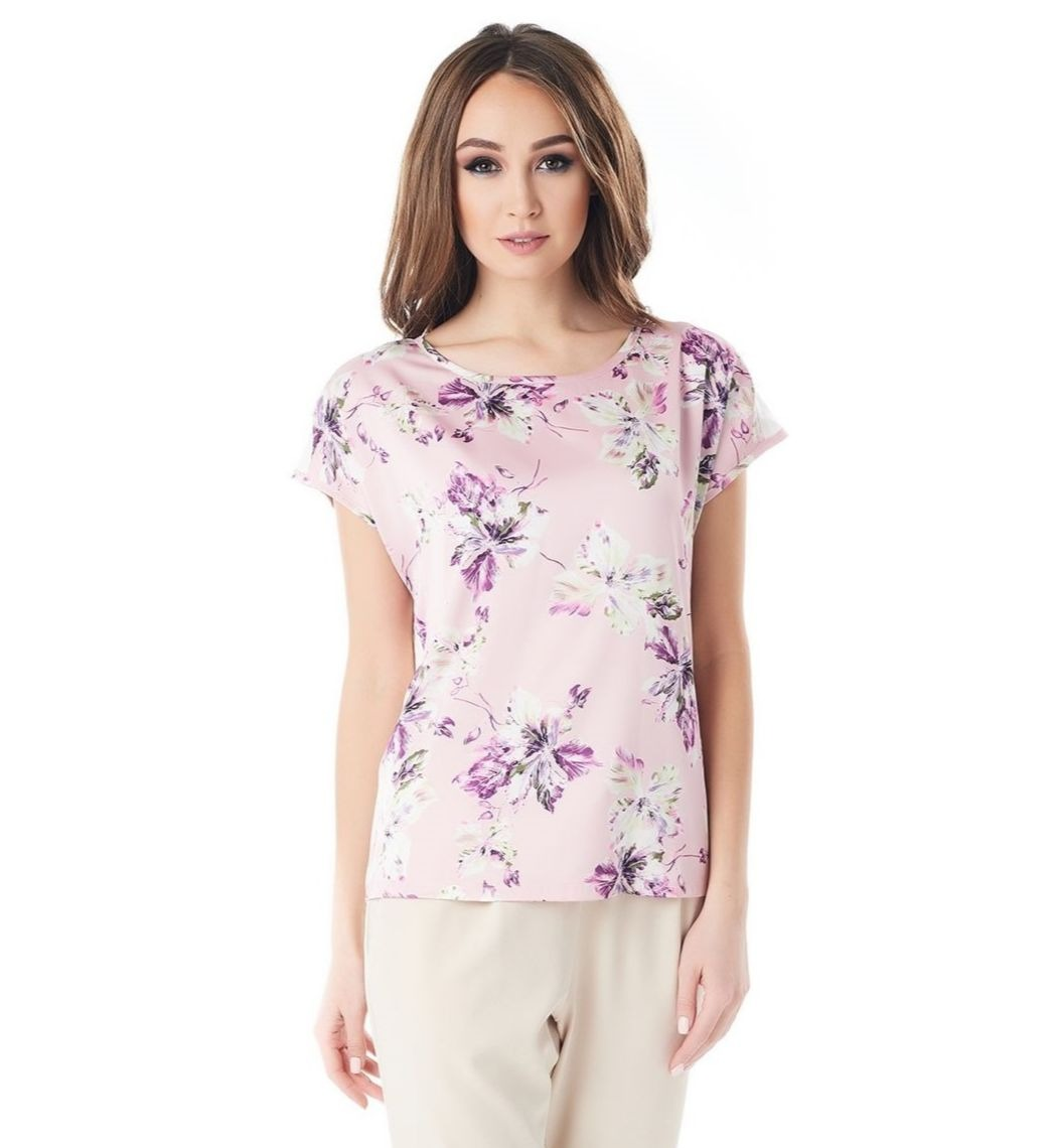 Шелковая блузка на лето LalaStyle 1380-190