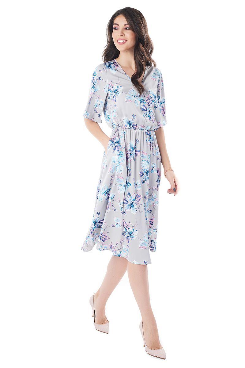 Шелковое летние платье LalaStyle 1379-191