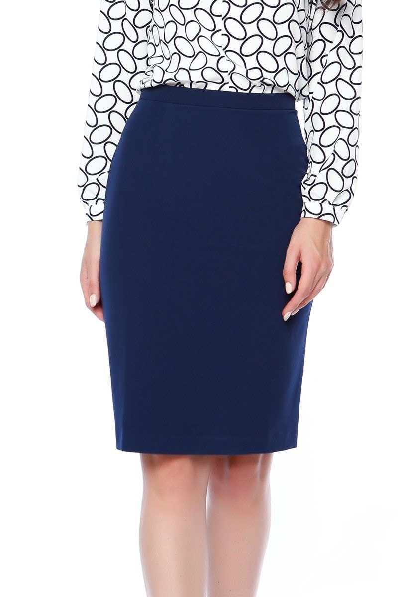 Синяя юбка карандаш Lala Style 1045-10